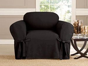 Pleasing Kashi Micro Suede Slipcover Sofa Loveseat Chair Furniture Cover Chair Black Pabps2019 Chair Design Images Pabps2019Com