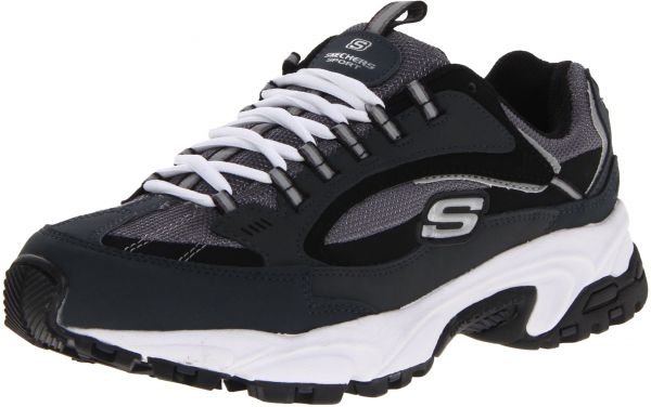 Skechers Sport Mens Stamina Nuovo Cutback Lace Up Sneakernavy