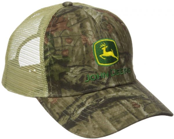 e152a1755dd John Deere Embroidered Logo Mesh Baseball Hat - One-Size - Men s - Mossy  Oak