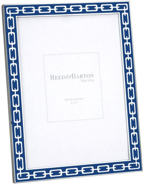 Reed Barton Silver Link 5 By 7 Inch Frame Navy Souq Uae