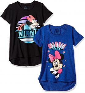 3bad2e04277 Sale on disney girls minnie mouse glitter graphic tshirts 2pack ...