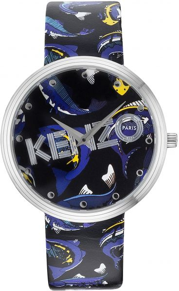 6663b9a7 Kenzo Casual Watch Leather Band for Women , Round , K9600503 | KSA | Souq
