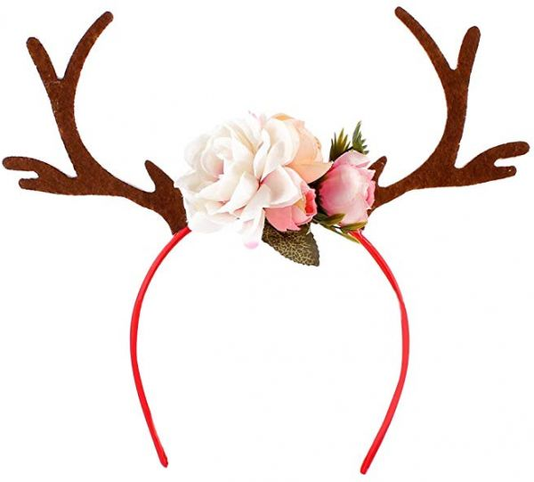 7ad2e1dc33 Christmas Antlers Headwear Costume Ear Party Hair headband Prop Apparel  Accessories Party Hair Band Party Supplies Women Girs Kids