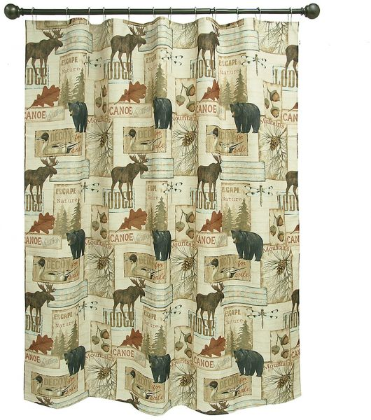 Bacova Guild Vintage Outdoors Fabric Shower Curtain Designed By Daphne