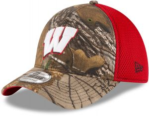 b65025e749d NCAA Wisconsin Badgers Men s Realtree Neo OTC 39Thirty Stretch Fit Cap