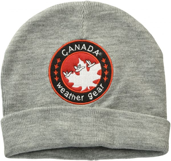 bbd047bea60 Canada Weather Gear Men s Cuff Beanie with Large Felt Patch