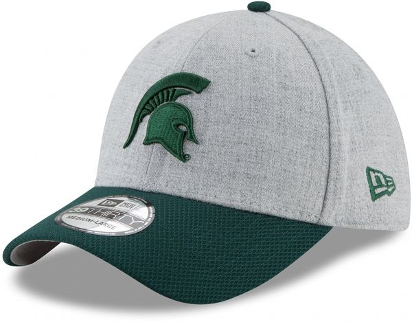 finest selection 3ebe2 4cb1c ... real ncaa michigan state spartans adult change up redux 39thirty  stretch fit cap medium large heather