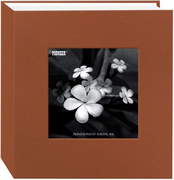 Pioneer Photo Albums 100 Pocket Copper Silk Fabric Frame Cover Photo