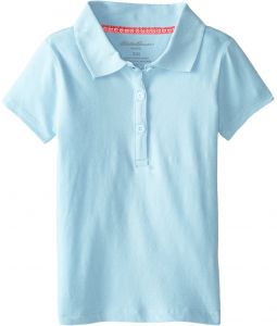 More Styles Available Eddie Bauer Girls Short Sleeve Jersey Polo Shirt