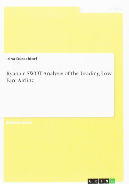 Ryanair  Swot Analysis of the Leading Low Fare Airline | KSA | Souq