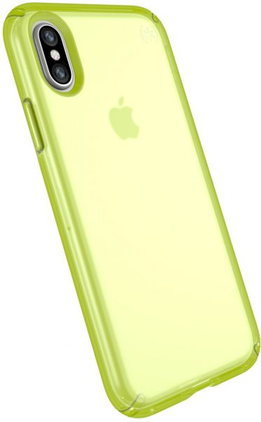 buy online bf3ab 9d2e1 Speck Products Presidio NEON Clear Cell Phone Case For IPhone X - LIGHTNING  YELLOW MATTE