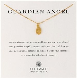577161681 Dogeared Guardian Angel' Charm Bead Gold Plated Sterling Silver Chain  Necklace