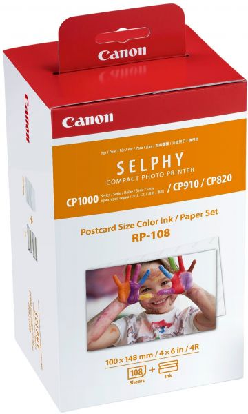Canon Rp 108 Color Inkpaper Set Compatible With Selphy Cp910cp820