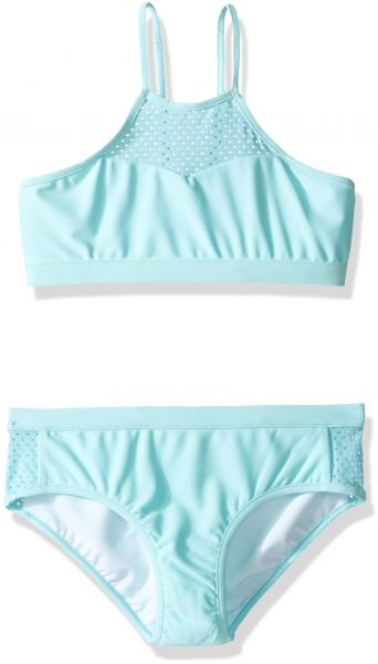43ad301bfaf25 Seafolly Big Girls' Summer Essentials Apron Tankini, Sky Blue, 8 ...