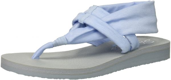 wholesale dealer 147e7 73550 Skechers Cali Women s Meditation-Studio Kicks Flat Sandal,Light Blue,10 M  US   Souq - UAE