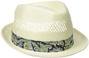 bd5d1b1ecb15b Henschel Men s Vented Toyo Straw Fedora with Paisley Band and Sweatband