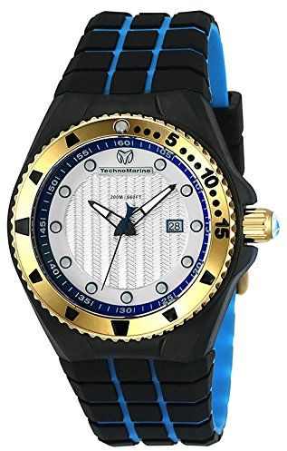 Technomarine Men S Cruise Quartz Stainless Steel And Silicone Casual Watch Color Two Tone Model Tm 115220