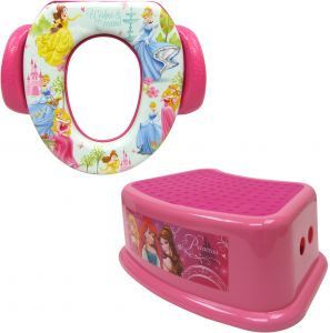 Wondrous Disney Princess Potty Training Combo Kit Contour Step Stool Soft Potty Pink Pabps2019 Chair Design Images Pabps2019Com
