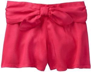 5349f51198 Gymboree Toddler Girls' Tie Front Culotte Shorts, True Red, 5T