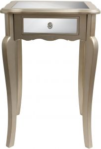 Major-Q 9081197 22 H Contemporary Style Mirrored Top Chrome Finish Living Room End Table