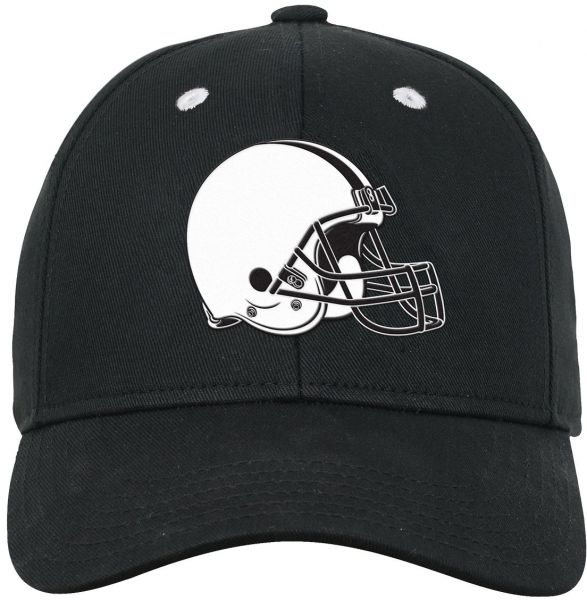 NFL Youth Boys Black and White Structured Adjustable Hat-Black-1 Size d5234deadeb