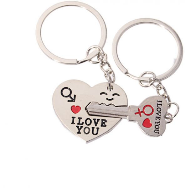 63c79d5dd7 2pcs Couple Key Chain Ring Set - You Hold The Key to My Heart ...