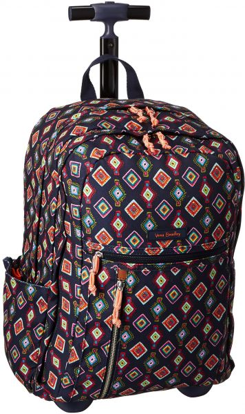 Vera Bradley Women s Lighten up Printed Rolling Backpack, Mini Medallions    Souq - UAE 5418f74699