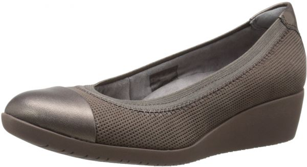 6eaabc8feafc CLARKS Women s Petula Sadie Synthetic Wedge Pump