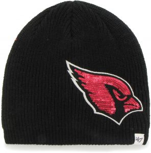 7d33b4490c8 NFL Arizona Cardinals Women s Sparkle Beanie Knit Hat