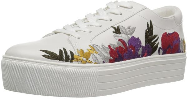 d1d5fff6351f Kenneth Cole New York Women s Abbey 2 Platform Lace up Embroidered Sneaker
