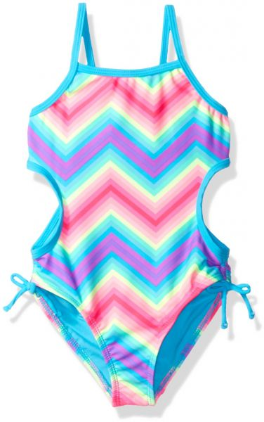 b2f7e0c04c Angel Beach Little Girls  Rainbow Bliss Chevron Monokini One Piece Swimsuit
