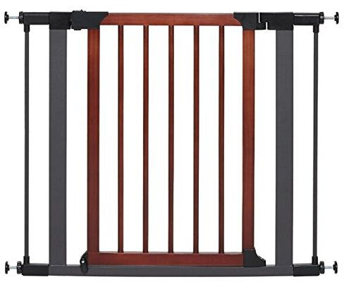MidWest Homes for Pets Steel Pet Gate w/Textured Graphite Frame ...