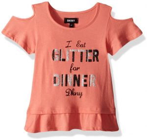 996955e6c323 DKNY Big Girls  Short Sleeve T-Shirt
