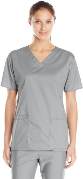 9eeb49c624e WonderWink Women's Wonderwork V-Neck Scrub Top, Grey, Medium. by WonderWink,  Uniform - Be the first to rate this product
