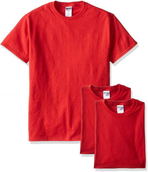 bc57e9d2 Jerzees Men's Adult Short Sleeve Tee 3 Pack, True Red, X-Large   Souq - UAE
