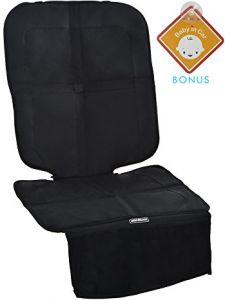 Alphabetz Deluxe Car Seat Protector With Full Padded Protection Black
