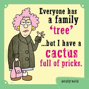 MG97507 Aunty Acid My Husbands Wife Tree-Free Greetings Premium Refrigerator Magnet 3.5 x 3.5 Inches