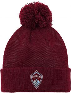 3cee3bf0805 Outerstuff MLS Colorado Rapids Boys Cuffed Knit Hat with Pom