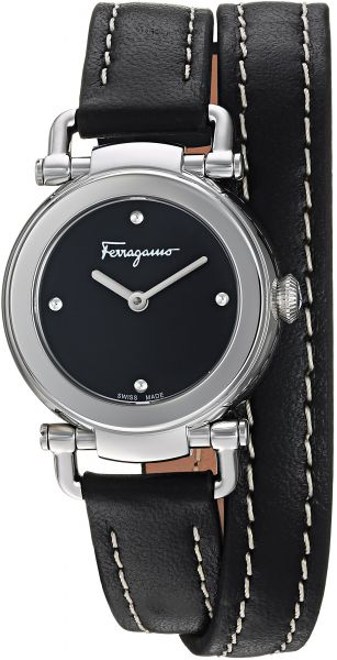 ed3eecb6683a Salvatore Ferragamo Women s  GANCINO Casual  Quartz Stainless Steel and  Leather Watch