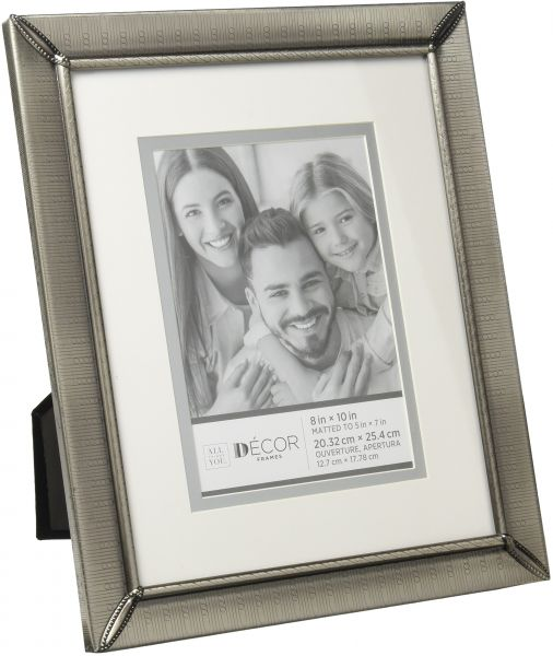 Darice 30028714 Pewter Picture Frame with Matting and Etched Design ...