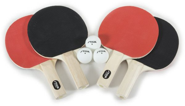 STIGA Recreational-Quality Classic Table Tennis Set for Family Play  Includes 2 Rackets and 3 White 1-Star Balls (2 Player)  94b8f97e1