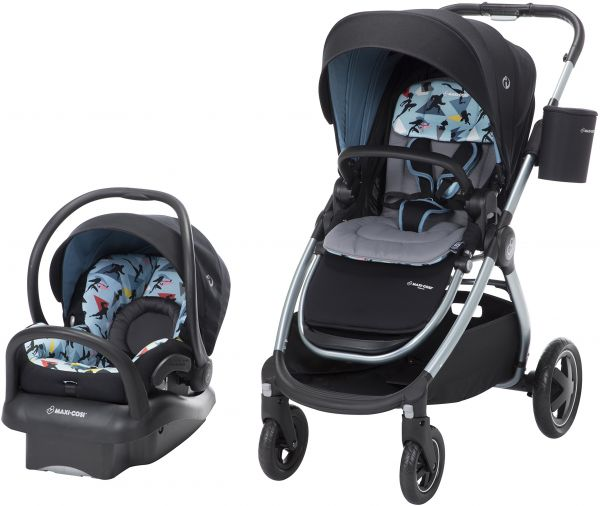 Disney Baby Adorra 5 In 1 Modular Travel System With Mico Max 30 Infant Car Seat Pixar Incredibles 2 Blue Black Grey From Maxi COSI