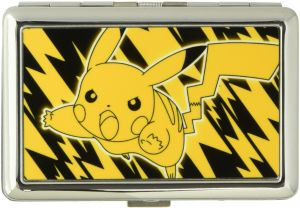 2ea09091a80 Buckle-Down Business Card Holder - Pikachu Electric Tackle Yellow Black -  Large