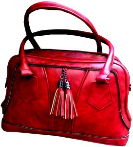 Women s Leather Hand Bag - Red d303817639f74