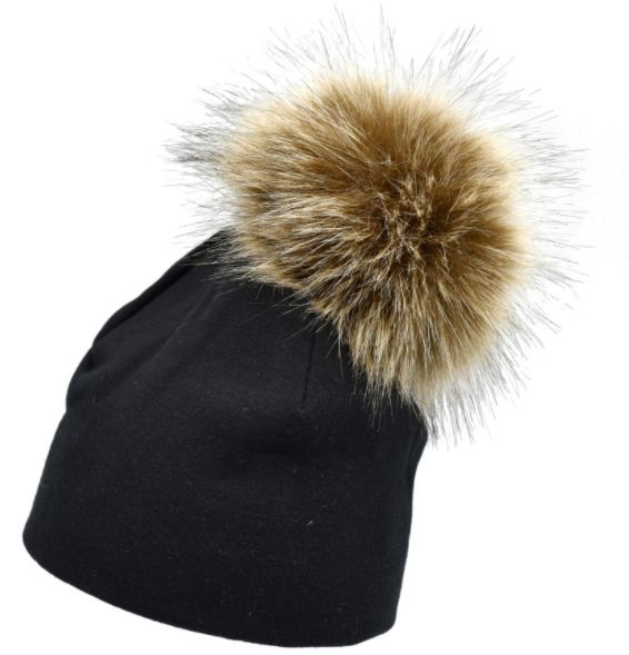 Solid Cotton Newborn Hat Faux Fur Baby Cap Pompom Bobble Hat For Kids  Winter Boys And Girls Caps mm  49701d3132f