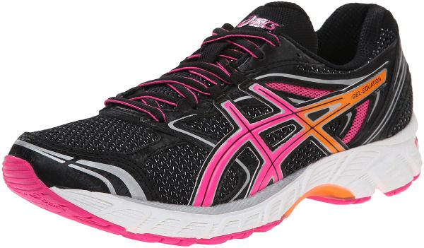 first rate c8d45 29730 ASICS Women s Gel-equation 8 Running Shoe, Black Hot Pink Orange, 5 M US    KSA   Souq