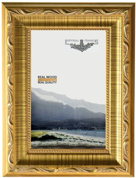 Imperial Frames 6 by 8-Inch/8 by 6-Inch Picture/Photo Frame, Dark Gold with Floral Design | Souq - UAE