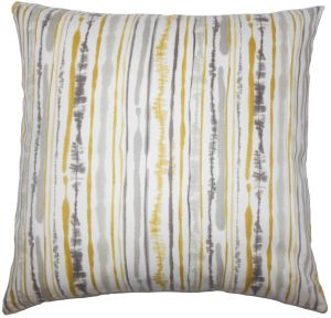 Awesome The Pillow Collection P18Flat D 72092 Yellow C100 Jumoke Striped Throw Pillow Cover 18 X 18 Gmtry Best Dining Table And Chair Ideas Images Gmtryco