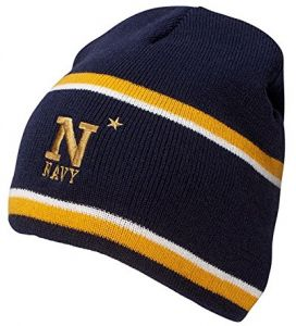 quality design ffd00 a25bd Ouray Sportswear NCAA Navy Midshipmen Engager Beanie, One Size, Navy Light  Gold White
