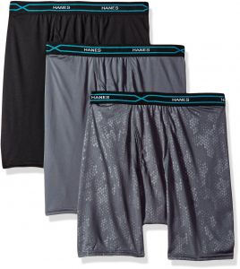 982589023e49 Hanes Men s 3-Pack X-Temp Performance Cool Embossed Boxer Brief